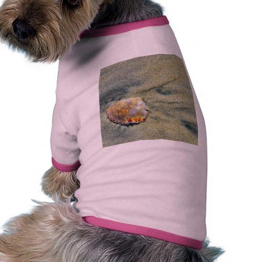 El cangrejo quebrado Shell en el filamento de plat Camiseta De Perrito