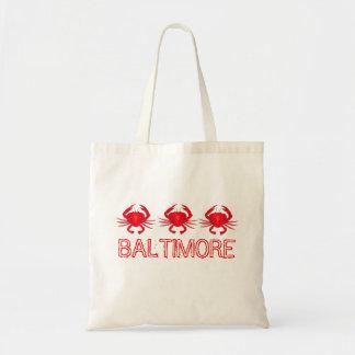 El cangrejo rojo Baltimore Maryland critica Bolsa Tela Barata