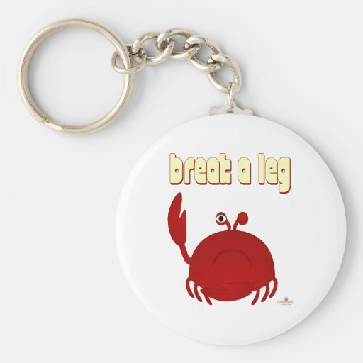 El cangrejo rojo que frunce el ceño rompe una pier llaveros