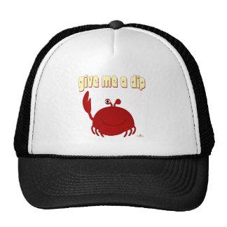 El cangrejo rojo sonriente me da una inmersión gorras de camionero