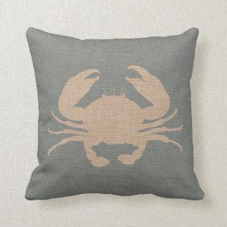 El cangrejo Shell vara el azul Cojín
