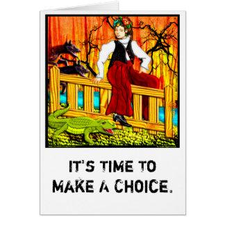 El canguro de la cerca (personalizado) tarjeta de felicitación
