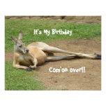 El canguro invita a la fiesta de cumpleaños
