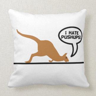 El canguro odia pectorales cojin