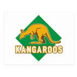 el canguro se divierte el escudo de la mascota postal
