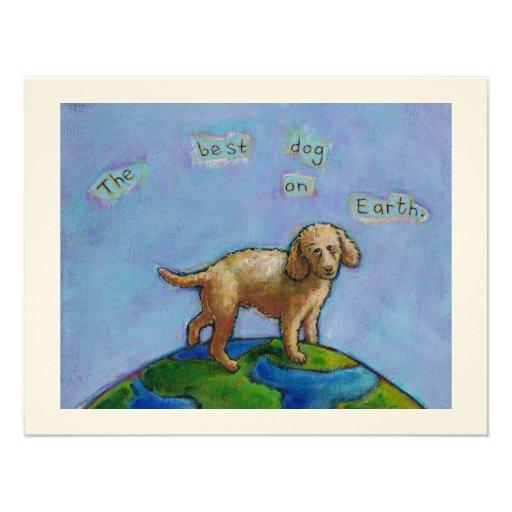 El caniche es el mejor perro en la pintura linda d anuncios