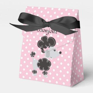 El caniche y rosado franceses y blanco puntea toda cajas para regalos