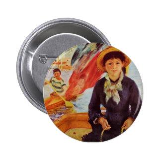 El Canoeing de Pedro Renoir- (chica joven en un ba Pins
