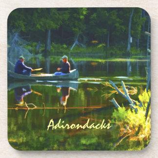 El Canoeing en el Adirondacks Posavasos De Bebidas