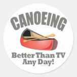 El Canoeing Etiquetas Redondas