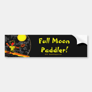 El Canoeing Kayaking del Paddler de la Luna Llena Pegatina Para Auto