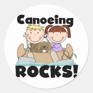 El Canoeing oscila dos camisetas y regalos Pegatina Redonda