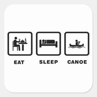 El Canoeing Pegatina Cuadrada