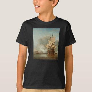 El cañón tiró por Willem van de Velde el más joven Camisas