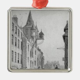 El Canongate Tolbooth, Edimburgo Adorno Cuadrado Plateado