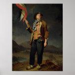 El cantante Chenard, como a Sin-Culotte, 1792 Póster