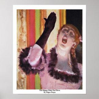El cantante con el guante de Edgar Degas Póster
