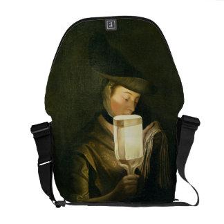 El cantante de la balada, c.1764 (aceite en lona) bolsas messenger