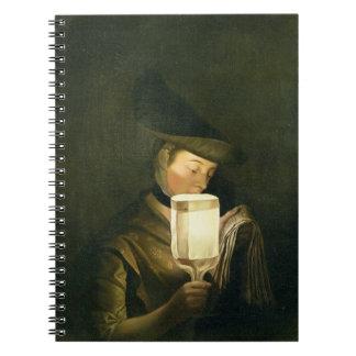 El cantante de la balada, c.1764 (aceite en lona) libros de apuntes