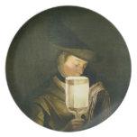 El cantante de la balada, c.1764 (aceite en lona) plato para fiesta