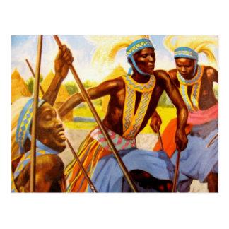El cantante de la tribu tarjetas postales