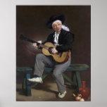 El cantante español - Édouard Manet Posters