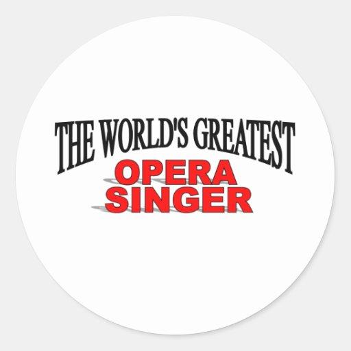 El cantante más grande de la ópera del mundo pegatina redonda
