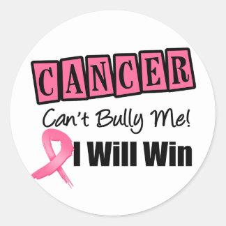 El canto del cáncer de pecho me tiraniza que pegatina redonda
