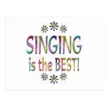 El canto es el mejor tarjeta postal