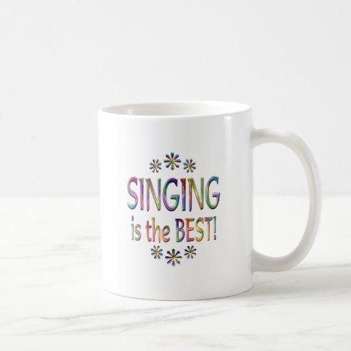 El canto es el mejor taza