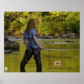 El canto rojo de la Grillo-trucha resiste Impresiones