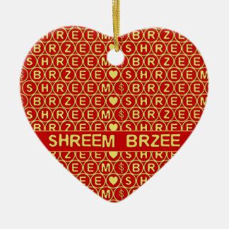 El canto rojo Shreem Brzee del oro atrae riqueza Ornamentos Para Reyes Magos