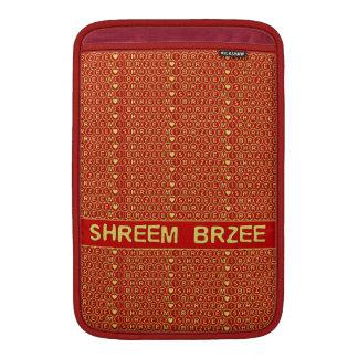 El canto rojo Shreem Brzee del oro atrae riqueza Funda MacBook