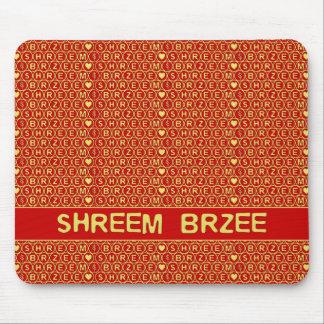 El canto rojo Shreem Brzee del oro atrae riqueza Tapetes De Ratones
