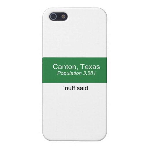 El cantón 'Nuff dijo iPhone 5 Carcasa