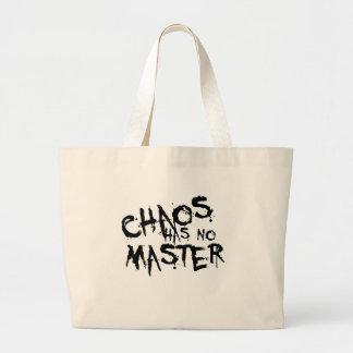 El caos no tiene ningún amo bolsas lienzo