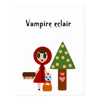 El Caperucita Rojo resuelve el Eclair del vampiro Tarjeta Postal