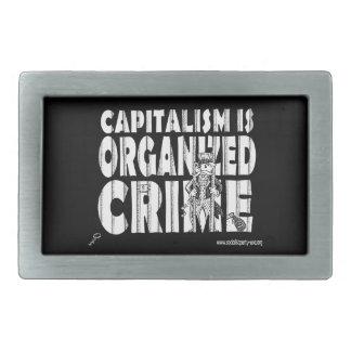 El capitalismo es hebilla del cinturón del crimen hebillas de cinturon rectangulares
