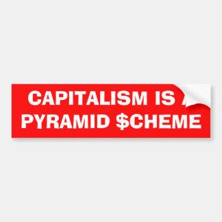 """El """"capitalismo es pegatina para el parachoques de pegatina para auto"""