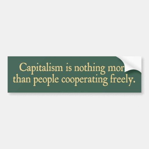 El capitalismo no es nada más pegatina para el par etiqueta de parachoque
