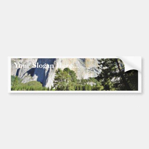 El Capitan And Merced River In Yosemite Car Bumper Sticker