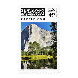 El Capitan And Merced River In Yosemite Postage Stamp