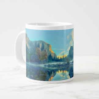 El Capitan and Three Brothers Reflection Giant Coffee Mug