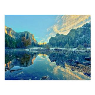 El Capitan and Three Brothers Reflection Postcard