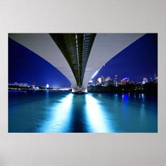 El capitán Cook Bridge de Brisbane Póster