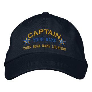 El capitán de mar personalizado protagoniza el gorras de béisbol bordadas