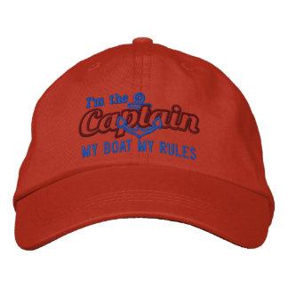 El capitán dice mi barco mis reglas gorras bordadas