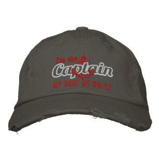 El capitán dice mi barco mis reglas gorra de beisbol bordada