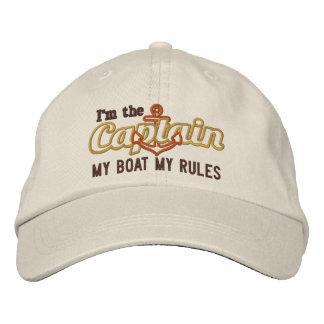 El capitán dice mi barco mis reglas gorros bordados
