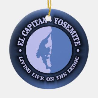 El Capitan Double-Sided Ceramic Round Christmas Ornament